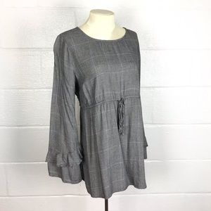 Maternity top blouse sz L career wear to work